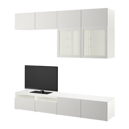Best mueble tv con almacenaje blanco lappviken sindvik for Muebles almacenaje ikea
