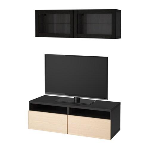 Best mueble tv con almacenaje negro marr n inviken - Muebles almacenaje ikea ...
