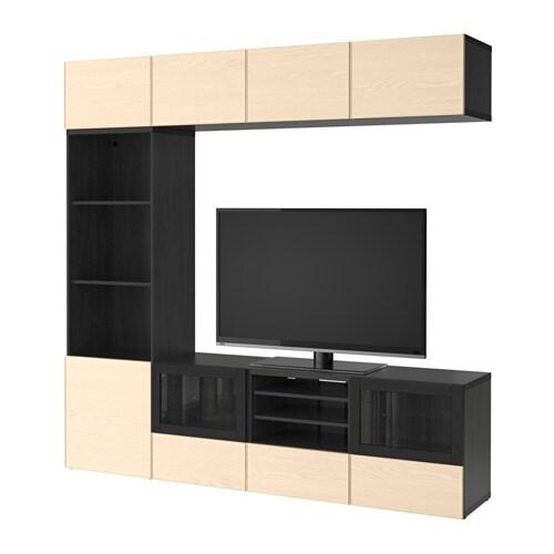 Best mueble tv con almacenaje negro marr n inviken for Muebles almacenaje ikea
