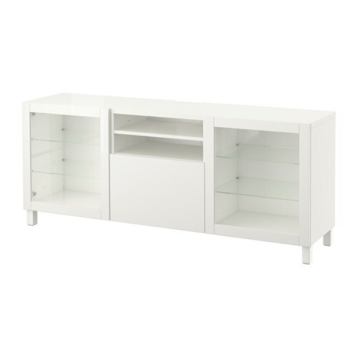 Best mueble tv con almacenaje lappviken sindvik vidrio - Muebles almacenaje ikea ...