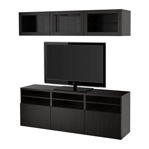 Best mueble tv con almacenaje lappviken sindvik vidrio - Mueble almacenaje cocina ...