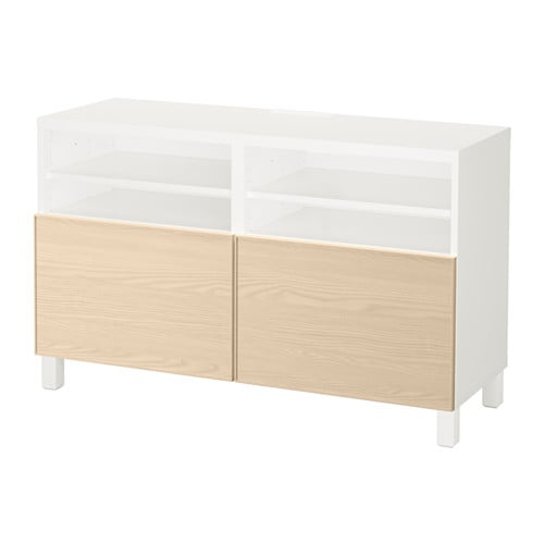 Best mueble tv puertas blanco inviken chapa fresno ikea - Mueble tv blanco ikea ...