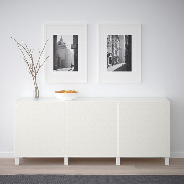 BESTÅ mueble salón blanco/Vassviken/Stubbarp blanco 180 cm 40 cm 74 cm