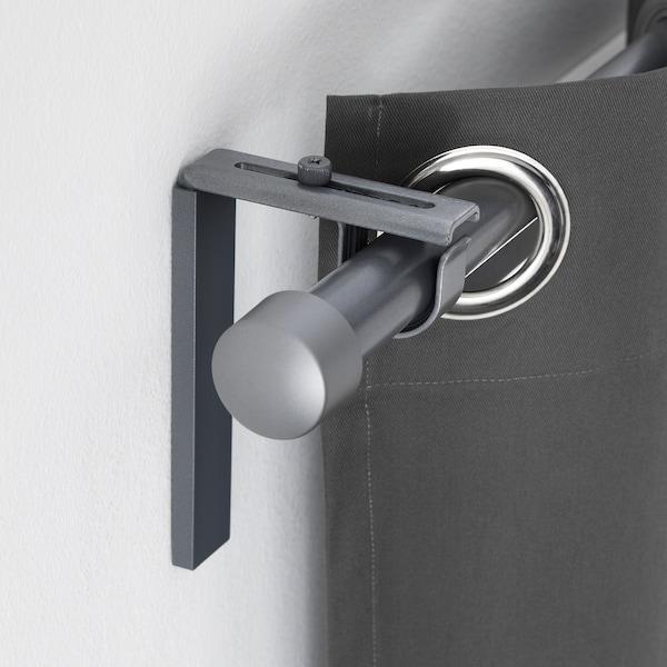 BETYDLIG Soporte pared/techo, gris plata