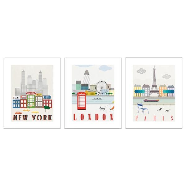 BILD Lámina, Londres, París, Nueva York, 40x50 cm