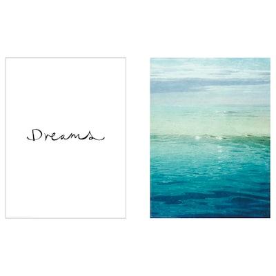 BILD Lámina, sueños de surf, 30x40 cm
