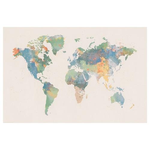 BILD lámina mundo de color 91 cm 61 cm