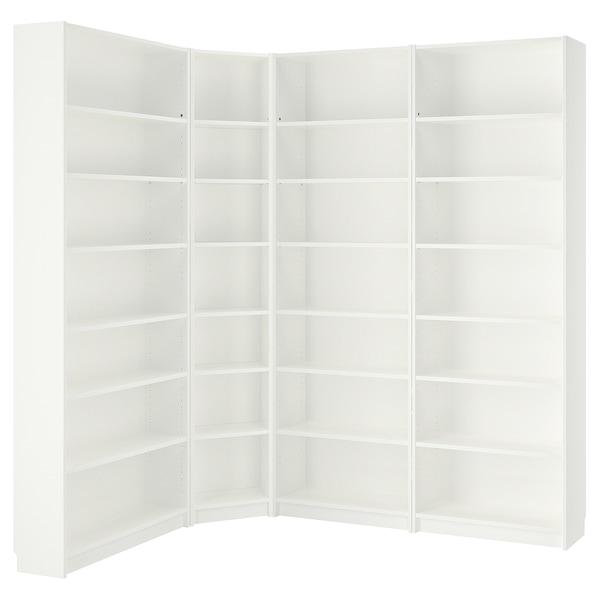 BILLY Librería, blanco, 215/135x28x237 cm