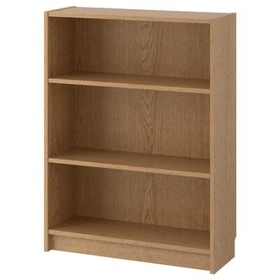 BILLY Librería, chapa roble, 80x28x106 cm