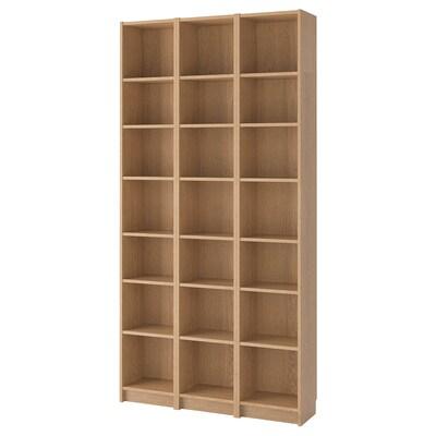 BILLY Librería, chapa roble, 120x28x237 cm