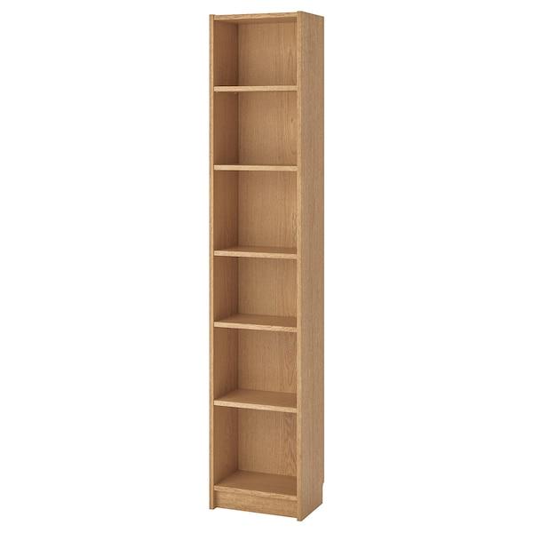 BILLY Librería, chapa roble, 40x28x202 cm