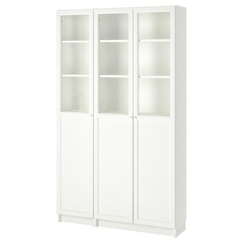 BILLY / OXBERG librería +puerta panel/vdr blanco/vidrio 120 cm 30 cm 202 cm 30 kg