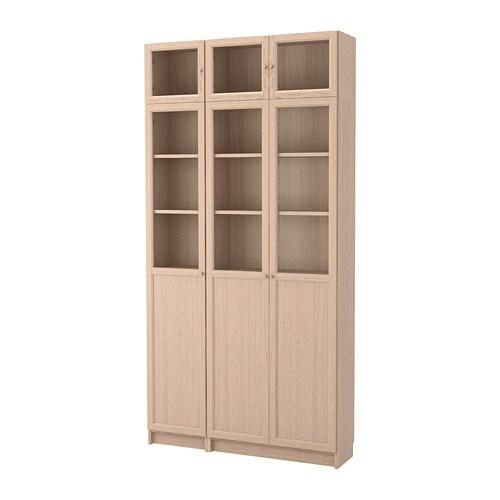 Librerias con puertas de cristal cheap realza el fondo de for Ikea estanteria billy con puertas