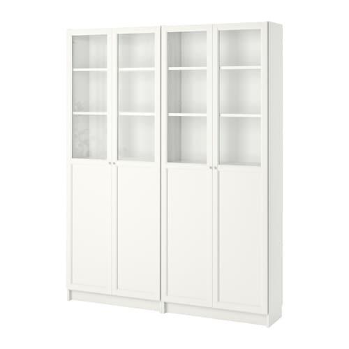 Billyoxberg Librería Blanco 160 X 30 X 202 Cm Ikea