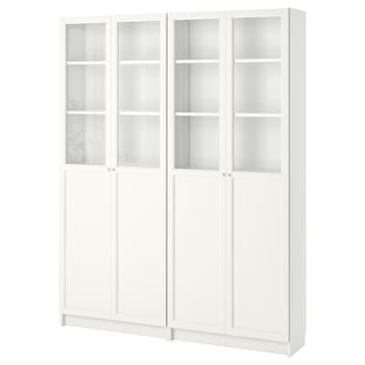 BILLY / OXBERG Librería, blanco, 160x30x202 cm