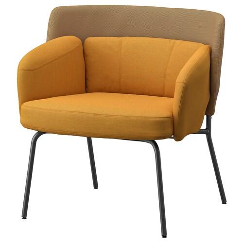 BINGSTA sillón Vissle amarillo oscuro/Kabusa amarillo oscuro 70 cm 58 cm 76 cm 33 cm 45 cm