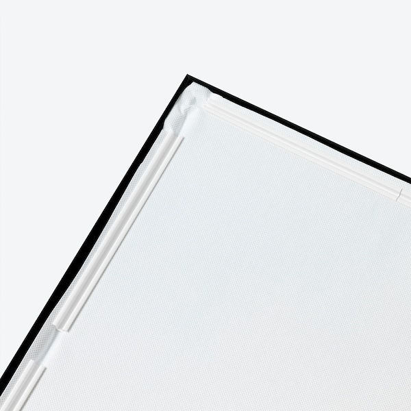 BJÖRKSTA Imagen+marco, Mapa 1881/negro, 200x140 cm