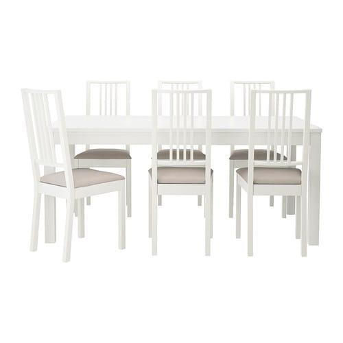 Bjursta b rje mesa y 6 sillas ikea - Mesa bjursta ikea ...
