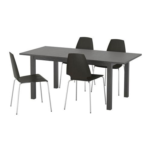 Bjursta vilmar mesa con 4 sillas ikea - Mesa bjursta ikea ...