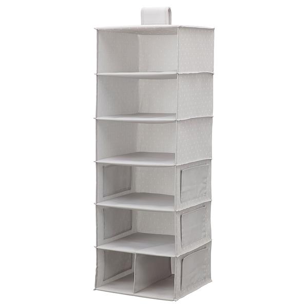 BLÄDDRARE Almac colg 7 comp, gris/con motivos, 30x30x90 cm
