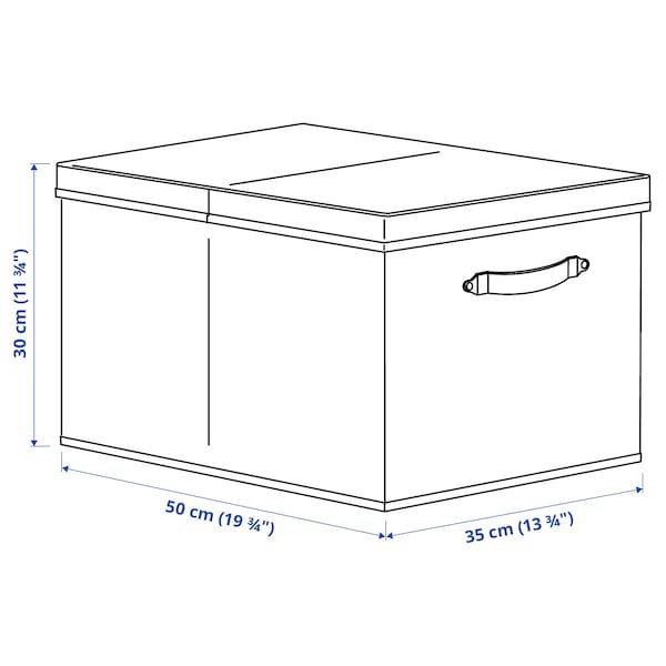 BLÄDDRARE Caja con tapa, gris/con motivos, 35x50x30 cm