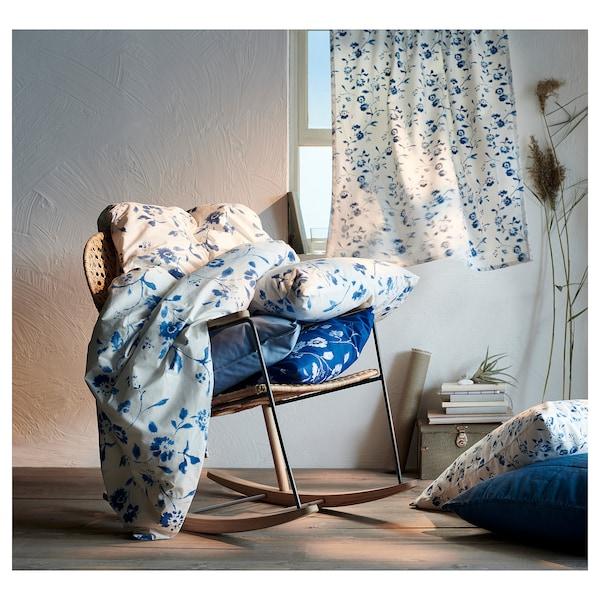 BLÅGRAN Tela por metros, blanco/azul, 150 cm