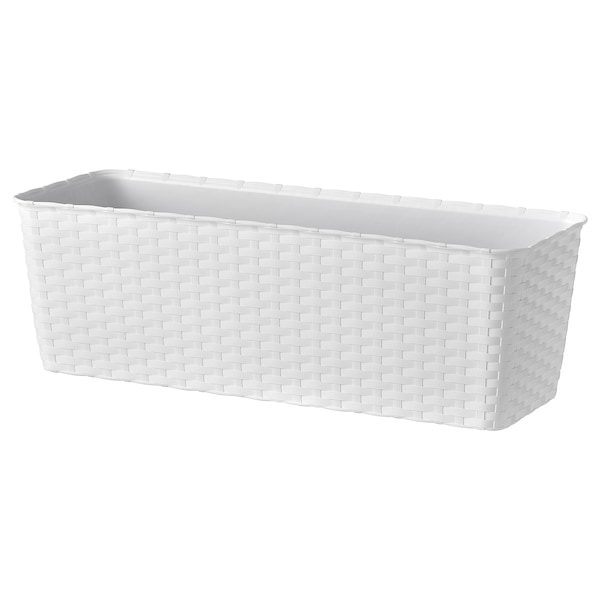 BLÅHALLON Macetero blancoexterior 50x18 cm