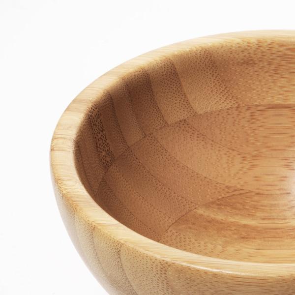 BLANDA MATT Fuente, bambú, 12 cm