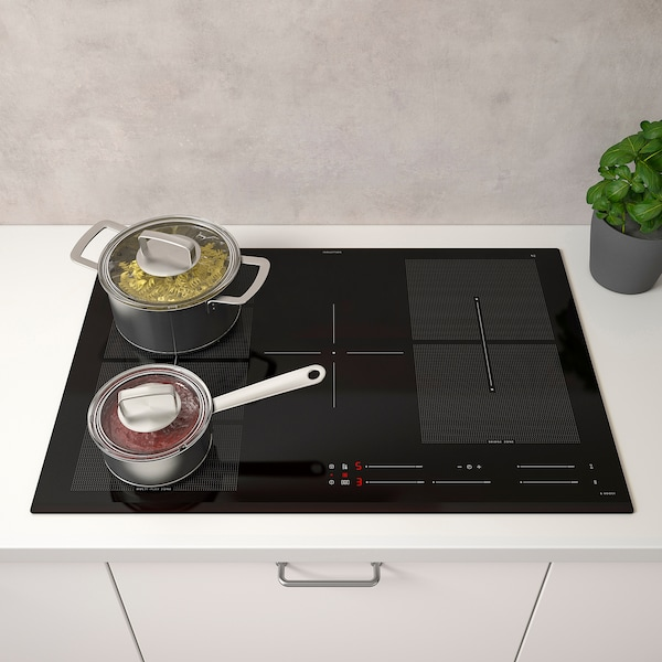 BLIXTSNABB Placa de inducción, IKEA 700 negro, 78 cm