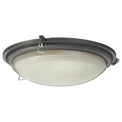 BOGSPRÖT Lámpara techo LED, antracita, 36 cm