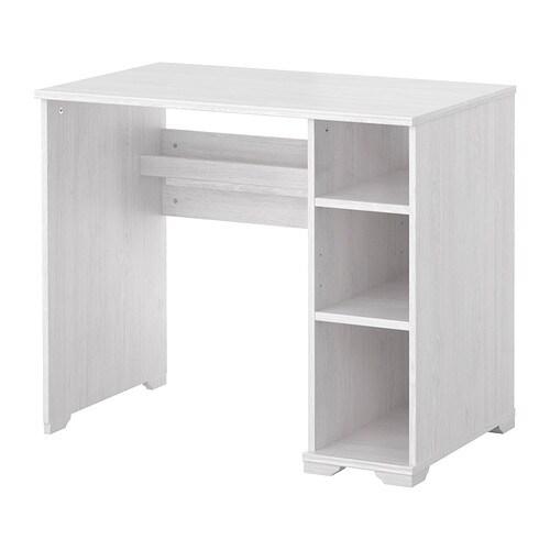 Borgsj escritorio blanco ikea for Escritorios baratos