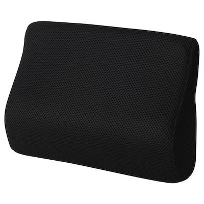 BORTBERG Cojín lumbar, negro, 31x23 cm