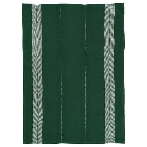 BOTANISK toalla de mano verde oscuro/blanco a mano 70 cm 50 cm