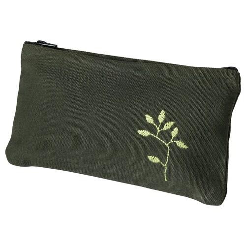 BOTANISK bolsa verde oscuro a mano 22 cm 12 cm