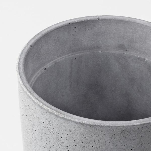 BOYSENBÄR Macetero, int/ext gris claro, 12 cm