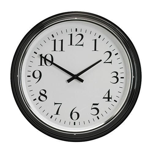 BRAVUR - Reloj de pared, negro