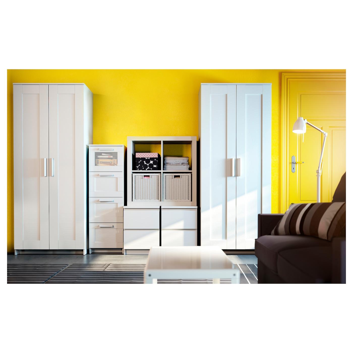 Brimnes armario con 2 puertas blanco 78 x 190 cm ikea for Armario 2 puertas ikea