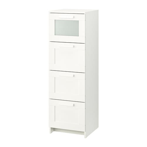 brimnes c moda de 4 cajones blanco vidrio esmerilado 39 x 124 cm ikea. Black Bedroom Furniture Sets. Home Design Ideas
