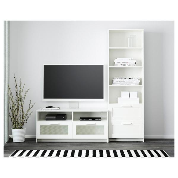 BRIMNES Mueble TV, blanco, 180x41x190 cm