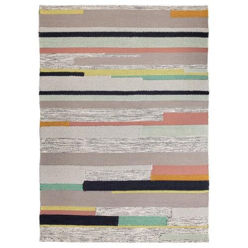 BRÖNDEN alfombra, pelo corto a mano multicolor 240 cm 170 cm 4.08 m² 2630 g/m²