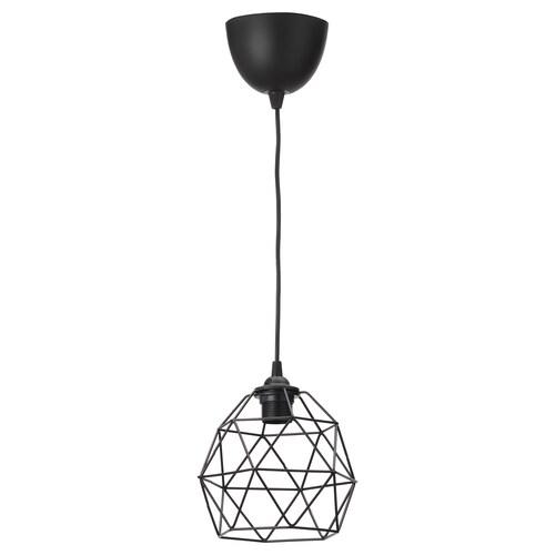 BRUNSTA / HEMMA lámpara de techo negro 20 cm 20 cm 1.8 m