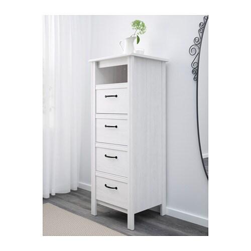 Brusali C 243 Moda De 4 Cajones Blanco Ikea