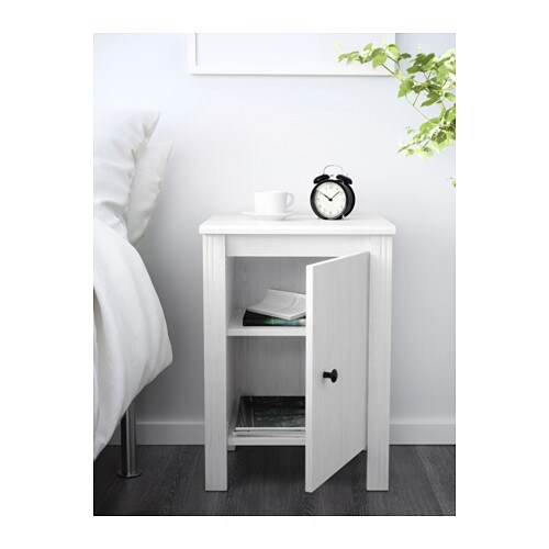 Brusali mesilla de noche blanco ikea - Ikea mesillas de noche hemnes ...