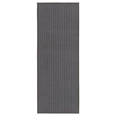 BRYNDUM Alfombra de cocina, gris, 45x120 cm