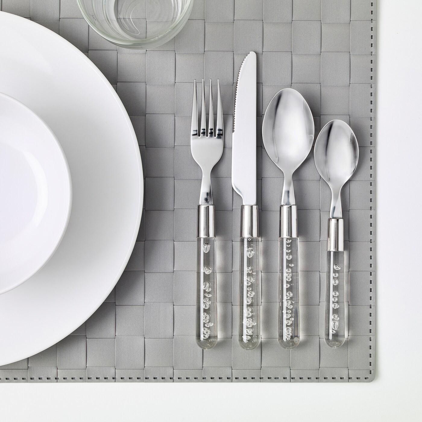 24 Pc Conjunto de Cubiertos De Acero Inoxidable Vajilla Comedor Cuchillos Tenedores Cucharas por Ikea