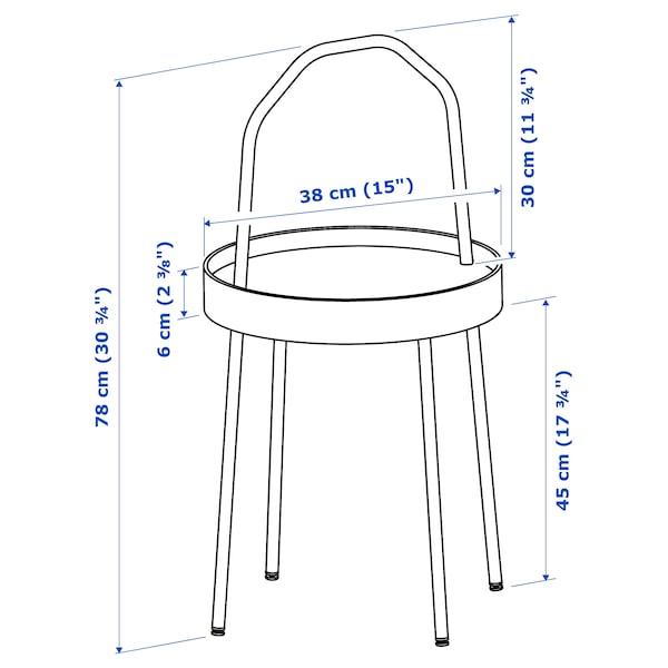 BURVIK mesa auxiliar blanco 78 cm 45 cm 38 cm