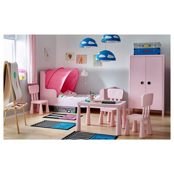 BUSUNGE Armario, rosa claro, 80x139 cm