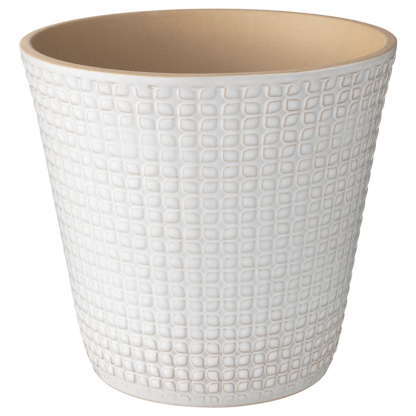 CHIAFRÖN Macetero blanco 19 cm