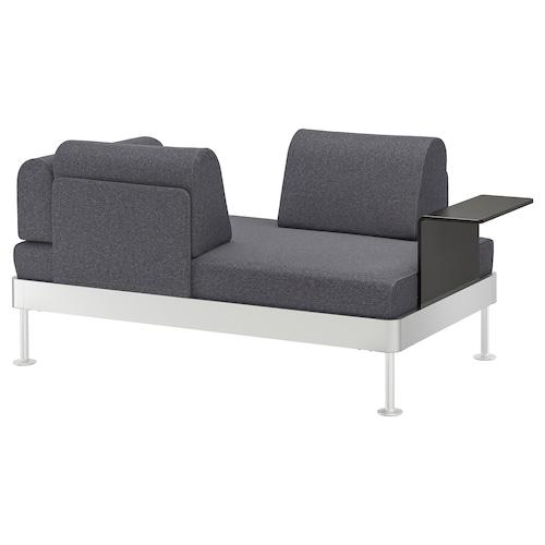 DELAKTIG sofá 2 con mesa auxiliar Gunnared gris 79 cm 169 cm 84 cm 45 cm 20 cm 145 cm 80 cm 45 cm