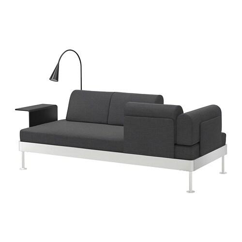 Delaktig sof 3 con mesa auxiliar y l mpara ikea - Mesa auxiliar sofa ikea ...